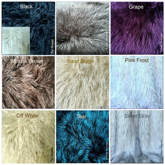 Plush Faux Fur Shaggy Shag Mongolian Llama Fabric Sample Color