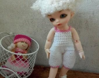 Overall Pukipuki Lati White SP 11-12 cm BJD for dolls of similar format