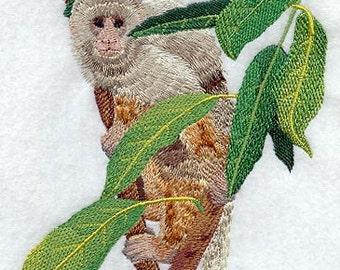 Capuchin Monkey Embroidered Flour Sack Hand/Dish Towel