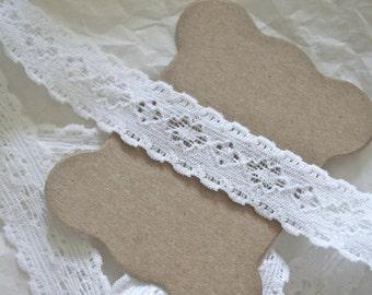 "5/8"" Vintage Elastic Lace, White"