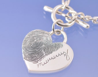 Fingerprint and signature pendant