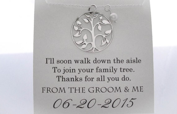 Grooms Gift To Mom: Mother Of The Groom Necklace Mother Of The Groom Gifts