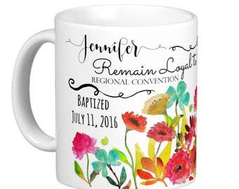 JW Baptism-Personalized Coffee Mug -  jw baptism gift- jw gifts - jw baptism