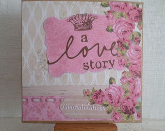 card for lovers with different collage