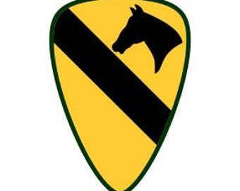 US Army 1st Cavalry Division Patch Vector Files, dxf eps svg ai crv
