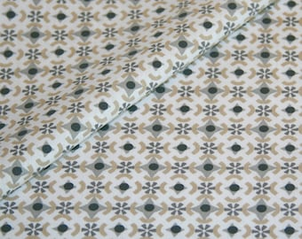 Cotton fabric geometrically patterned yard gray graphic sample decoration reference fabric price per meter