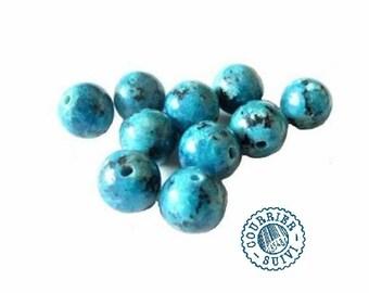 set of 10 beads jasper: 10 mm
