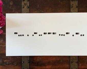 Beloved Morse Code Canvas