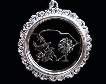 Filigree Bezel Sterling Silver - Addition Elegant