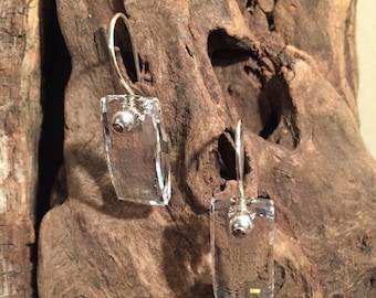 Swarovski Clear Crystal Urban Pendant Earrings