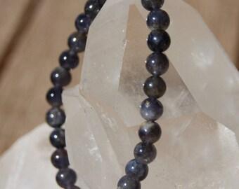 cordierite or Iolite Bead Bracelet
