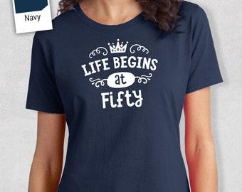 50th Birthday, 50th Birthday Idea, Great 50th Birthday Present, 50th Birthday Gift. 1968 Birthday, 50th Birthday Shirt, Women's Crew Neck!