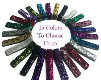 50 Glitter Lined Alligator Clips, 45mm, No Slip Hair Clips, Glitter Lined Clips, Glitter Hair Clips, Glitter Ribbon Clips, Glitter Covered
