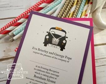 London Taxi Postcard Wedding/Evening Invitations