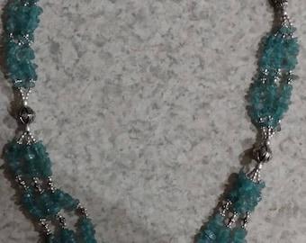 Three Strand Apatite Necklace