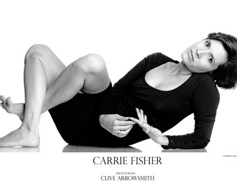 Carrie Fisher (Numbered Limited Edition Poster)