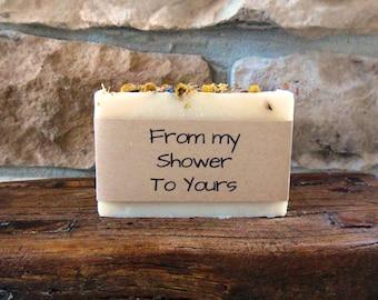 Bridal Shower Favors, Wedding Favors, Wedding Shower, Handmade Soap, Bulk Soap, Custom Personalized Wrapper, Lavender Soap