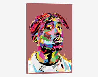 Tupac Art, Tupac Canvas Poster Print, 2pac Art Print, Tupac Shakur Art, Makaveli Canvas Wall Art, California love, Hip Hop Dorm Room Decor