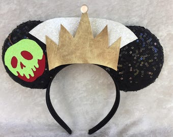 Evil Queen themed mouse ears