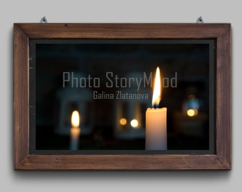 Romantic gifts for her Fine art photography Light gift Peaceful wall art Love candle Gentle gift Romantic light Candle flame Picture Love