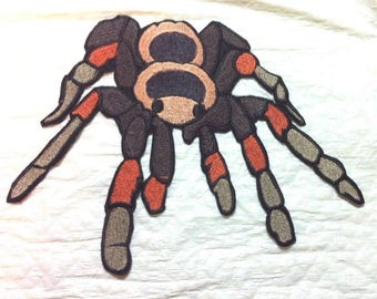 Tarantula Spider Iron on Patch or Applique  - 2 Sizes