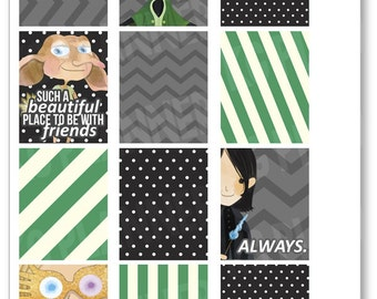 Magic Friends Full Boxes Planner Stickers for Erin Condren Planner, Filofax, Plum Paper