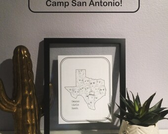 DIGITAL DOWNLOAD/PRINT Texas Girls Rock - Girls Rock Camp San Antonio Print - 8x10 and 5x7
