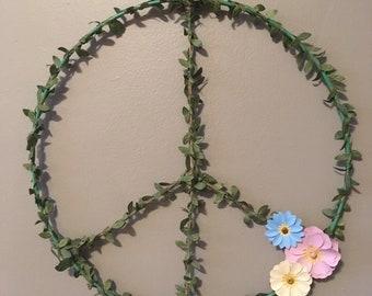 Large leafy peace sign