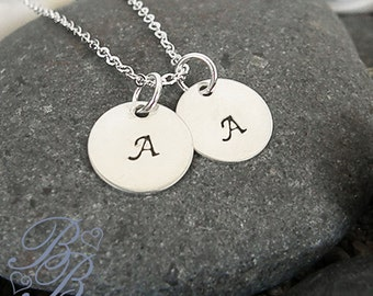 Personalized Jewelry - Initial Necklace - Hand Stamped Jewelry - Mothers Necklace