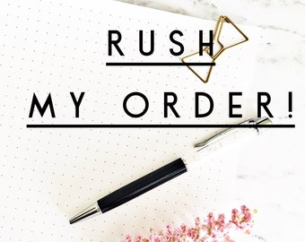 Rush my order - planner or book ships within 3 business days