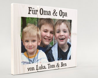 Own photo on wood, custom photo gift, photo and message on wood, photo gift