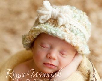 Bow Cloche Baby Newborn Crochet Photography Prop