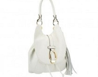G.I.L.I Leather Convertible Backpack,Crossbody and Shoulder bag in Ivory