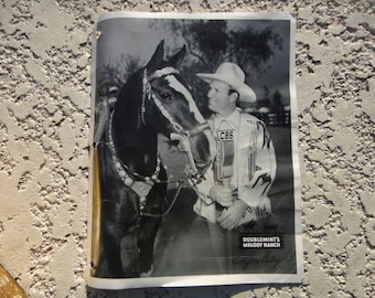 Vintage GENE AUTRY Doublemint  Melody Ranch ORIGINAL Photo, Photography, Gene Autry Original  Ephemera Western Cowboy Television Movie