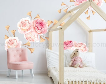 MINI FLOWER SET   Flower Wall Decal, Floral Wall Decal, Watercolor Wall  Decals, Flower Wall Stickers, Watercolor Flower Wall Decal, 04 0004