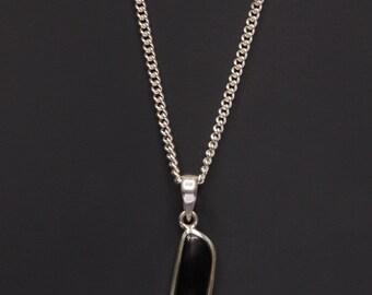 Shungite necklace - Shungite pendant - Shungite jewelry for men - men's jewelry - men's necklace - natural gemstone necklace for men