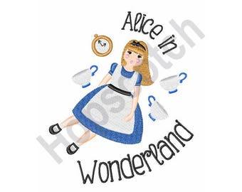Alice In Wonderland - Machine Embroidery Design