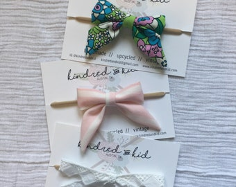 vintage fabric sailor bow