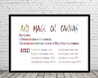 ANY IMAGE on CANVAS, canvas art print, canvas art, wall art on canvas, canvas decor, canvas wall art, canvas print, wall art print on canvas