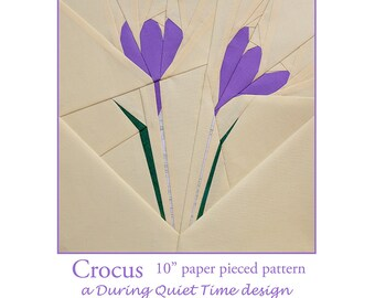 Crocus Paper Pieced Pattern