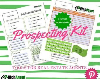 Prospecting for Real Estate Kit   Real Estate Form   Realtor Form   Real Estate Agents   Realtors   Real Estate Marketing   Realtor Planner