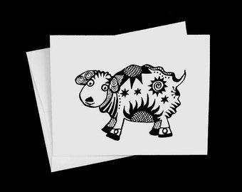 Sheep Note Card Chinese New Year Lamb Notecard
