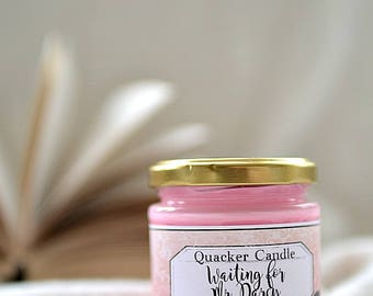 Waiting for Mr. Darcy -soy candle inspired by book, soy candles,  book candles, bookish candles, literary candles, bookworm, mr darcy, gift