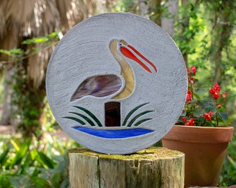 Stained Glass Pelican Stepping Stone #783
