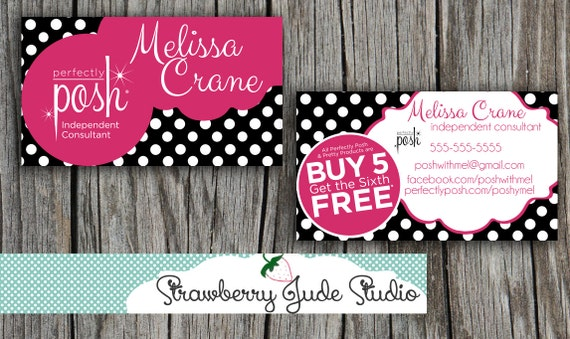 Items similar to perfectly posh business card diy printable or items similar to perfectly posh business card diy printable or printed on etsy colourmoves