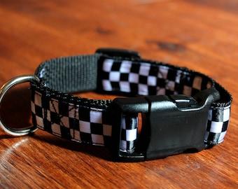 Checkered Dog Collar (1 inch width)