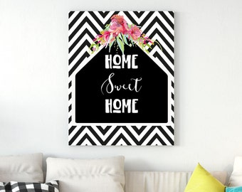 Home Sweet Home, Welcome Digital Print, Printable Art, Digital Quote Home Sweet Home, Instant Download Gift, Wall Art Decor Print