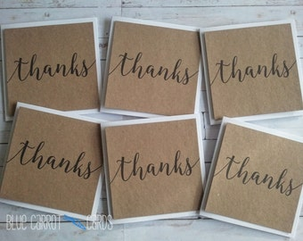 Thank You Card Pack, Thank You Card Set, Mini Thank You Cards, Wedding Thank You Card Set, Thank You Note Cards, Mini Cards, Rustic Wedding