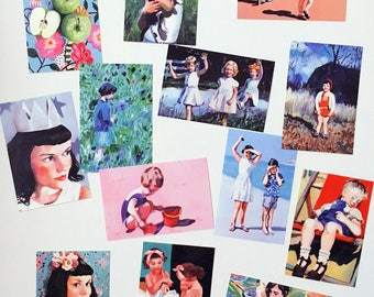 set of 13 printed postcards- Printed on a fine quality 250 gram paper - 4x6 inch card-paper goods