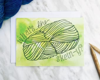Yarn card - what's the skein-y? Knitting or crochet, yarn lovers